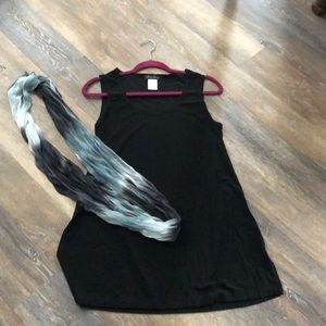 Slinky brand black dress tank top. Medium